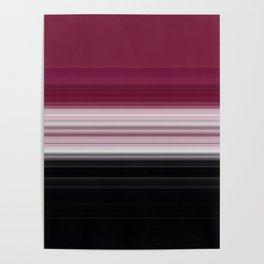 Bold Rose Pink Stripes Poster