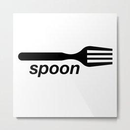 Spoon Fork Metal Print