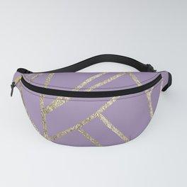 Classic Lavender Gold Geo #1 #geometric #decor #art #society6 Fanny Pack