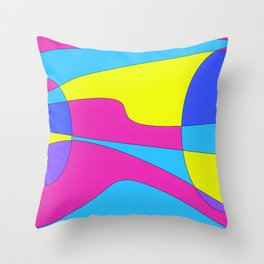 Colors in Sound Neon Throw Pillow