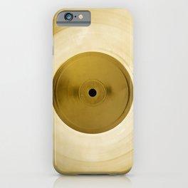 Golden vinyl record, djs gift iPhone Case