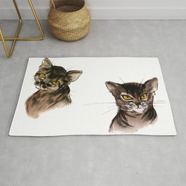 Two Abyssinian cat Rug