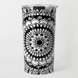 Mandala (black) Travel Mug