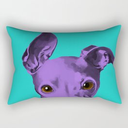 Albert the Curious Greyhound Rectangular Pillow