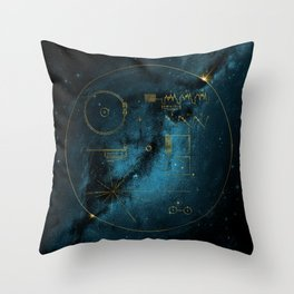 Voyager and the Golden Record - Space   Science   Sagan Throw Pillow