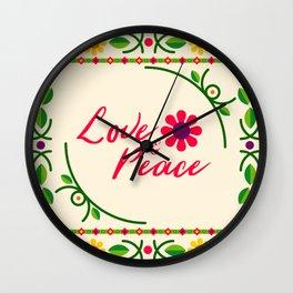 LOVE PEACE Wall Clock