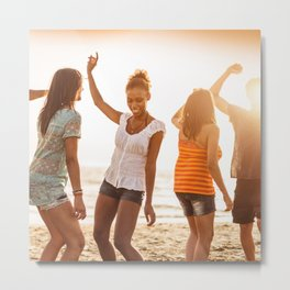 beach party on summer Metal Print