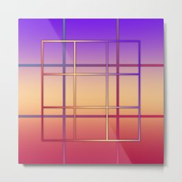 Geometric patchwork Metal Print