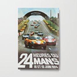 1966 Le Mans poster, Race poster, car poster, garage poster Metal Print