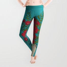 Blooming Red Leggings