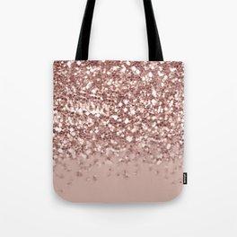 Glam Rose Gold Pink Glitter Gradient Sparkles Tote Bag