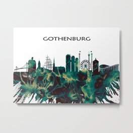 Gothenburg Skyline Metal Print