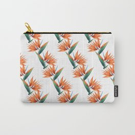 Bird of paradise, strelitzia exotic flower Carry-All Pouch