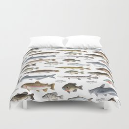 A Few Freshwater Fish Duvet Cover