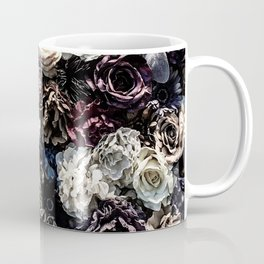 Flower Wall // Desaturated Vintage Floral Accent Background Jaw Dropping Decoration Coffee Mug