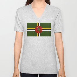 Dominica Flag Unisex V-Neck
