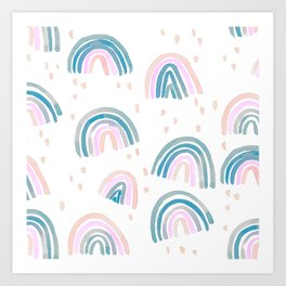 Rainbow Chroma Pastel Art Print