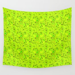 Green neon  , placer beads #neon #bright Wall Tapestry