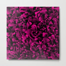 Explosive bright on color from spots and splashes of pink paints. Metal Print