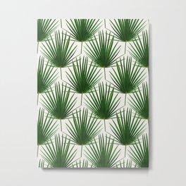 Simple Palm Leaf Geometry Metal Print