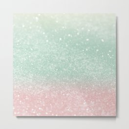 Pastel Summer Glitter #1 (Faux Glitter - Photography) #shiny #decor #art #society6 Metal Print