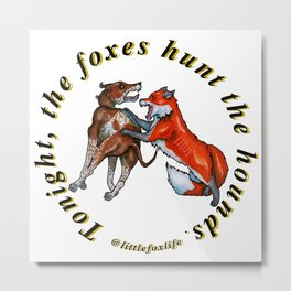 Fox and the Hound Metal Print