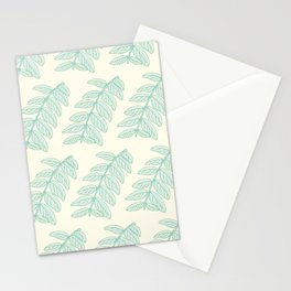 Pinnated Compound Leaves Pattern Stationery Cards