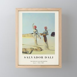 Poster-Salvador Dali-The Skin of an Orchestra. Framed Mini Art Print