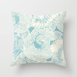 Shells and Shapes in Cream and Sea Throw Pillow