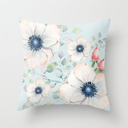 Summer Flowers #society6 #buyart Throw Pillow