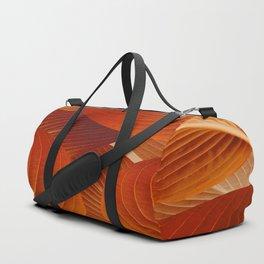 Leaves in Terracotta Color #decor #society6 #buyart Duffle Bag
