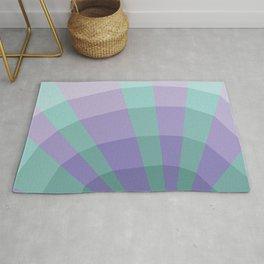 Blue purple abstract net Rug