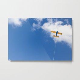 Kite flying on blue sky Metal Print