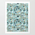 Dogs pattern print must have gifts for dog person mint dog breeds by petfriendly