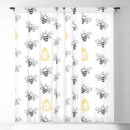 Honey Bee Blackout Curtain