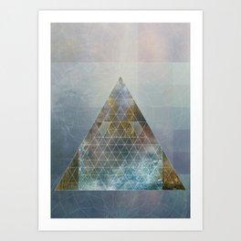 Perseid - Contemporary Geometric Pyramid Art Print