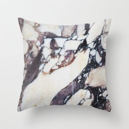 Mauve marble classic Throw Pillow
