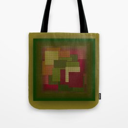 Yellow Color Geometry Tote Bag