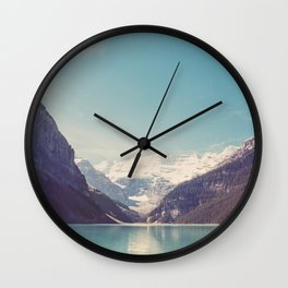 Lake Louise - Mountain Landscape, Nature Photography Wall Clock
