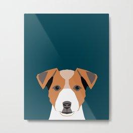 Bailey - Jack Russell Terrier phone case art print gift for dog people Jack Russell Terrier owners Metal Print