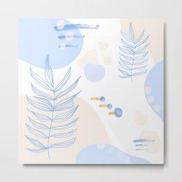 Pastel Pop in Sand Metal Print