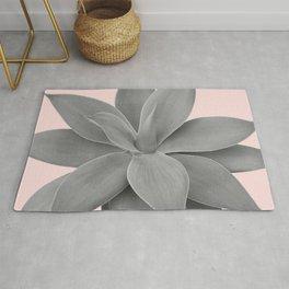 Gray Blush Agave Romance #1 #tropical #decor #art #society6 Rug