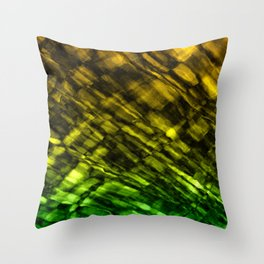 Rock Pool in Green and Gold Throw Pillow