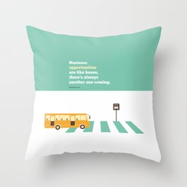 Lab No. 4 - Business  Richard Branson Virgin Inspirational Corporate Startup Quotes Poster Throw Pillow