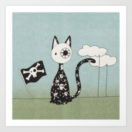 Just a Pirate Cat Art Print