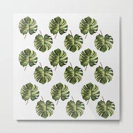 Monstera Broad Leaf - Pattern Metal Print