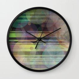 Spots on Stripes Wall Clock