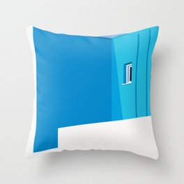 Postcards from Greece Throw Pillow