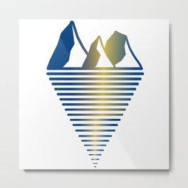 Mountain & Inlet Metal Print