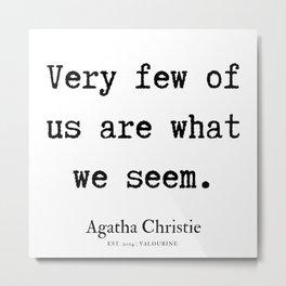 3  | Agatha Christie Quotes | 190821 Metal Print